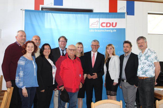 Freie Ukraine Braunschweig zu Gast in der Kreisgeschäftsstelle der CDU