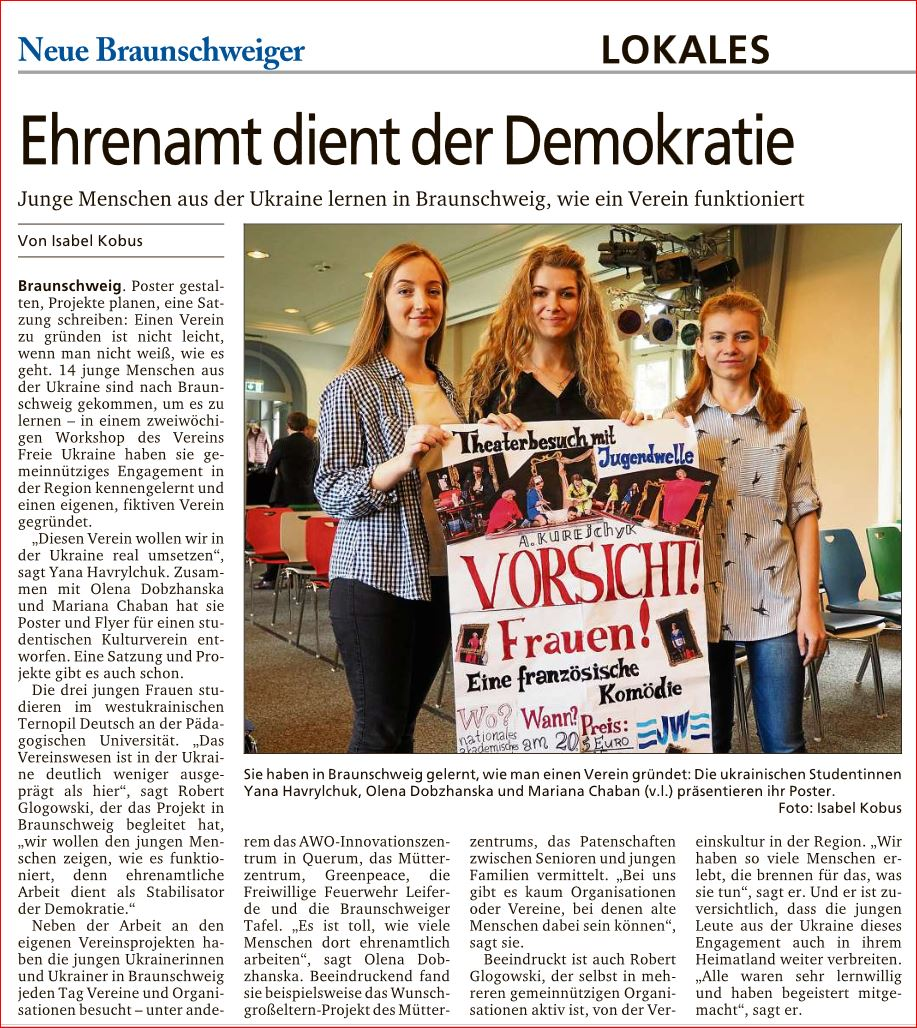 Artikel in der NB 23.10.2019